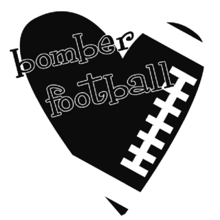 Bomber football stamp